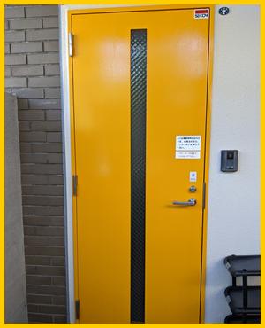 隔離室専用入り口