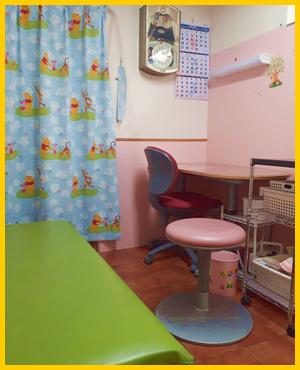 予防接種専用「きのこの部屋」診察室